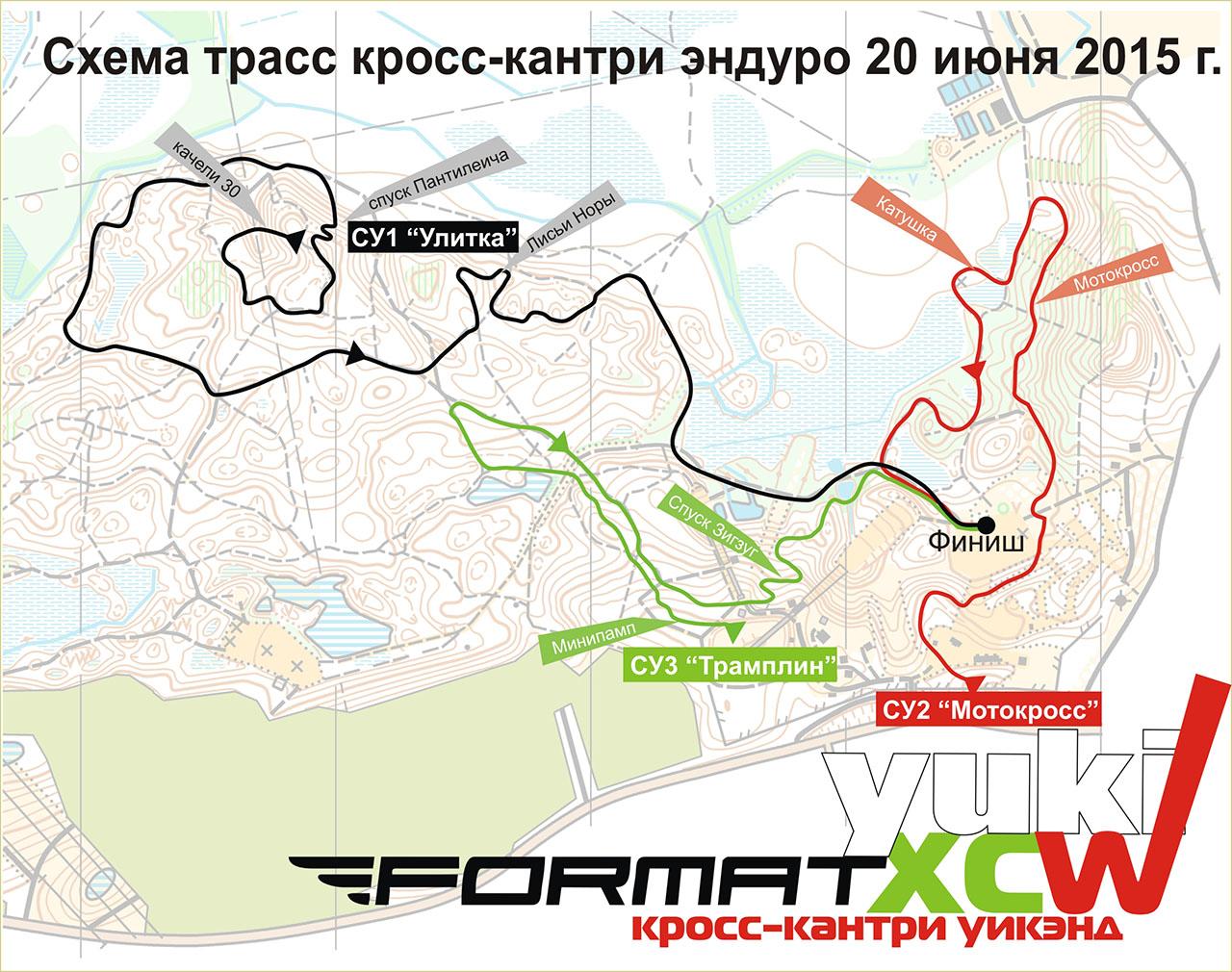 карта Спец Участков для гонки Xc-Enduro в Юкках 20-21 Июня 2015