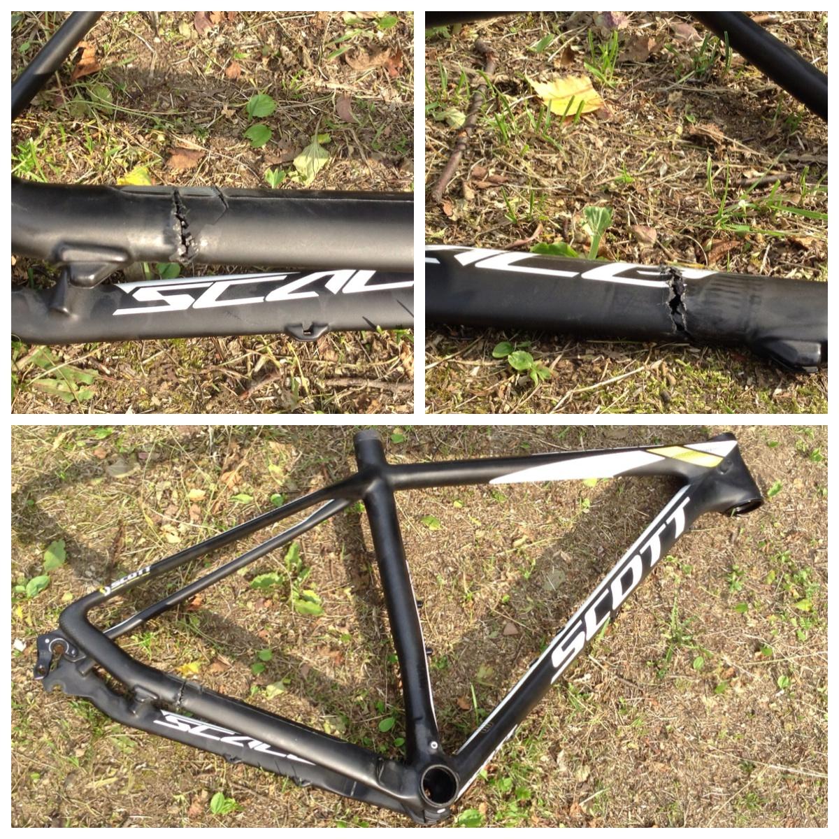 ремонт карбоновых велосипедных рам