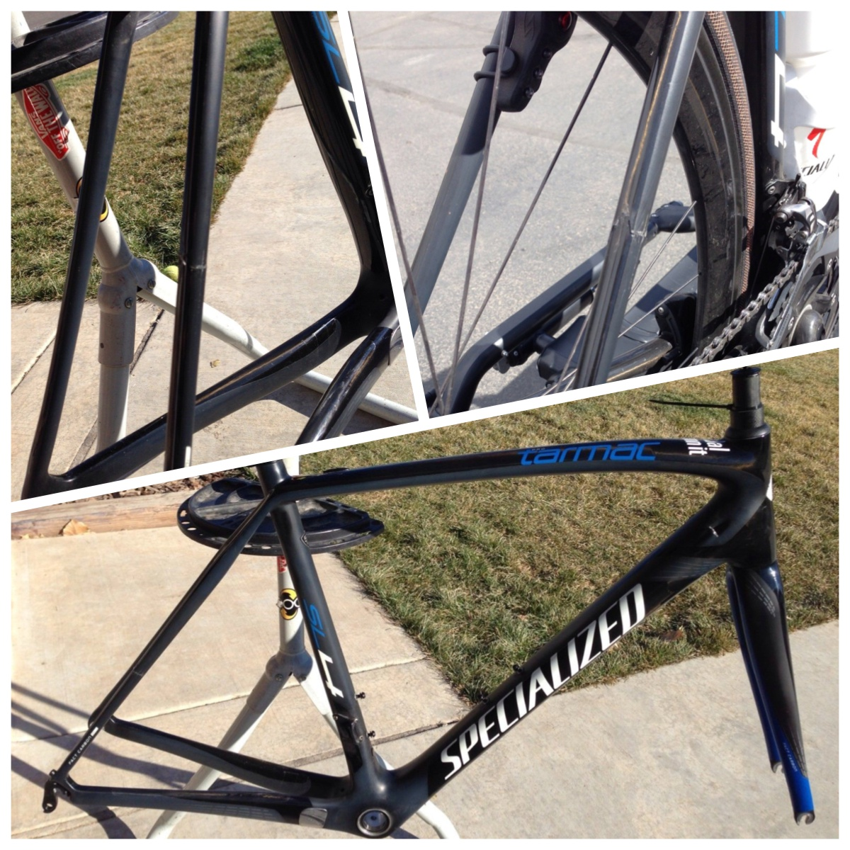 broked carbon frame