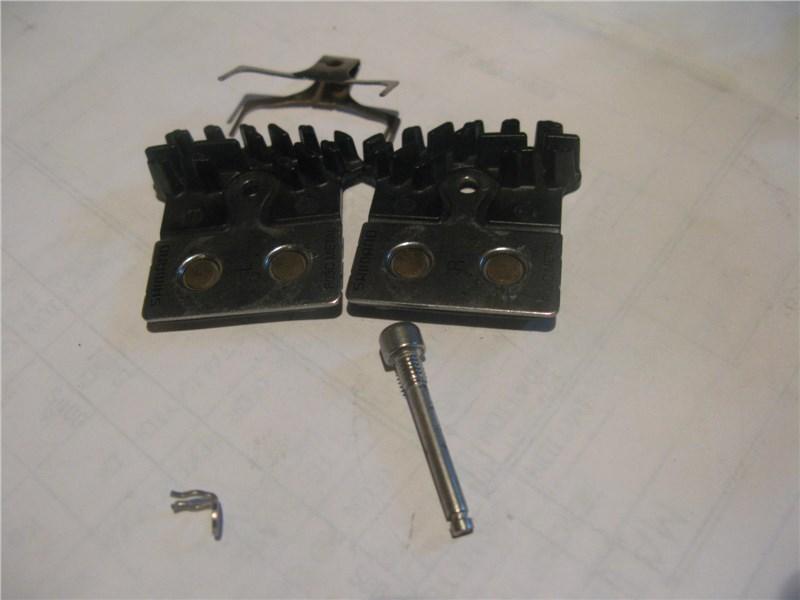 Тормозные колодки с радиатором охлаждения.