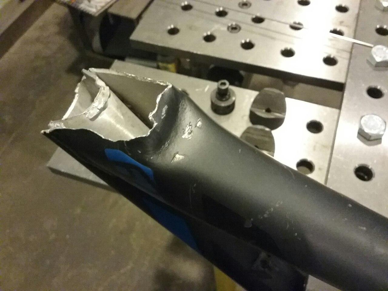 сварка алюминиевой рамы
