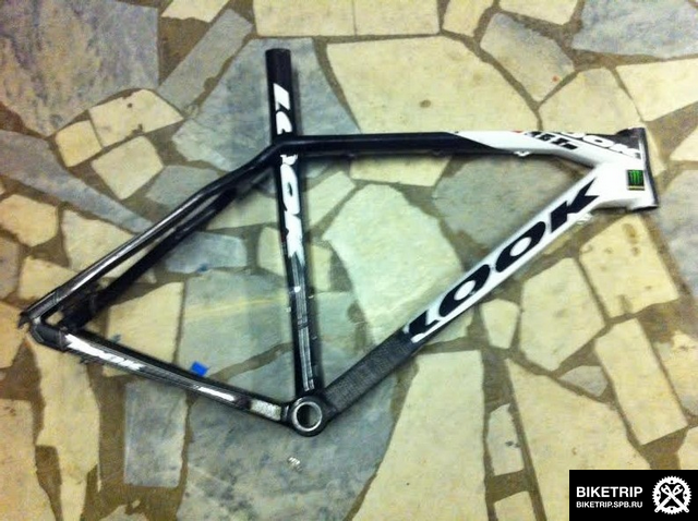 look broked carbon frame