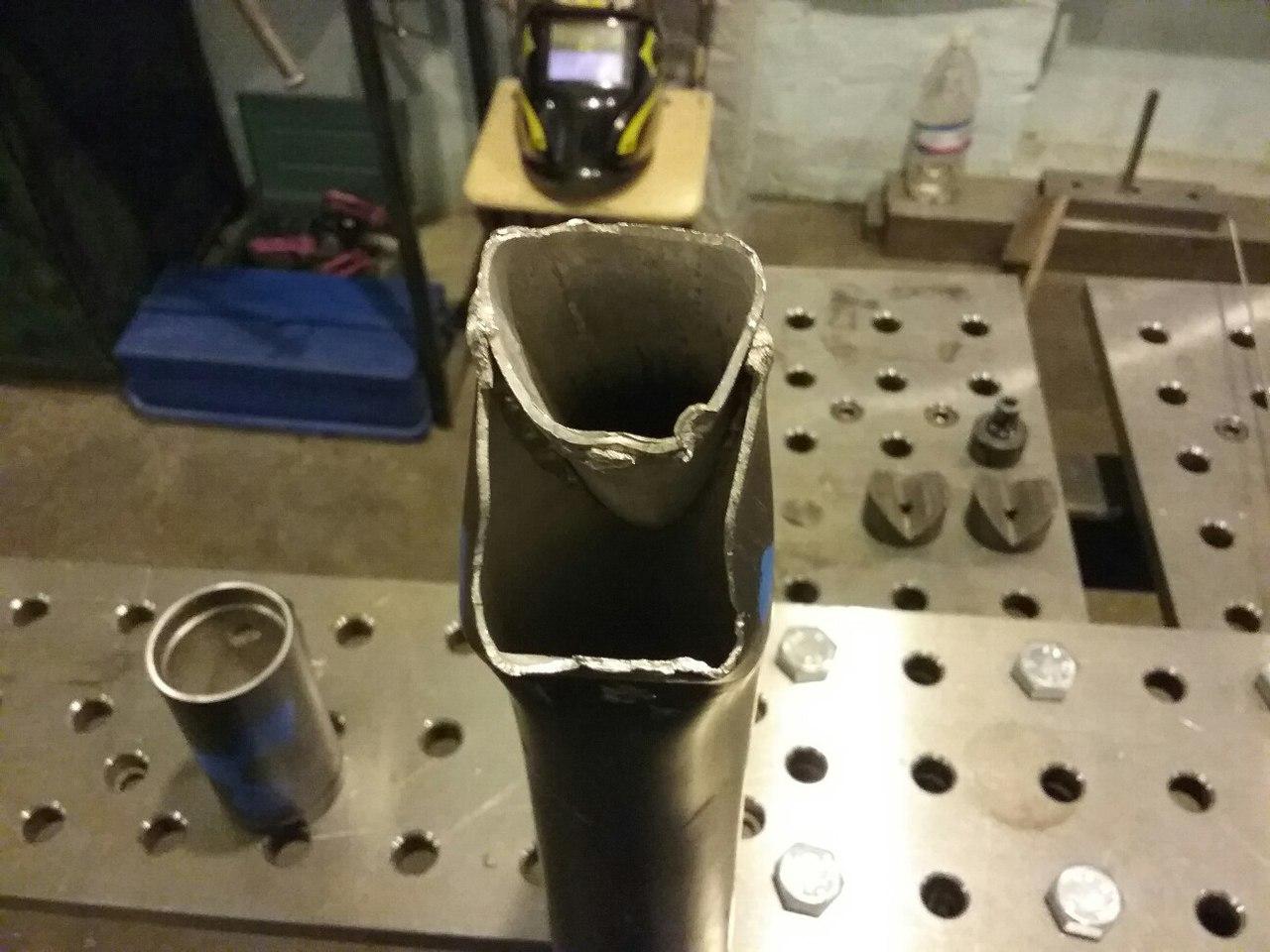 ремонт велосипедной рамы из алюминия