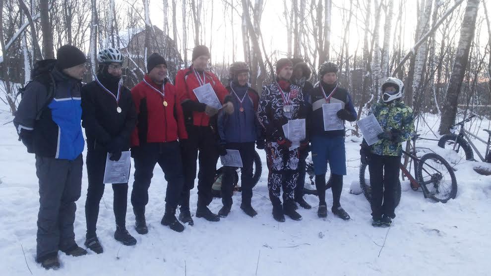 Награждение участников гонки Потешное эндуро